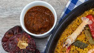 Receta de salmorreta a mano, receta rápida con batidora. Paella Land