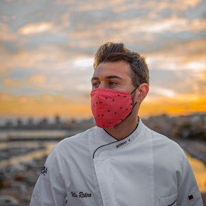mascarilla para cocinero paellas